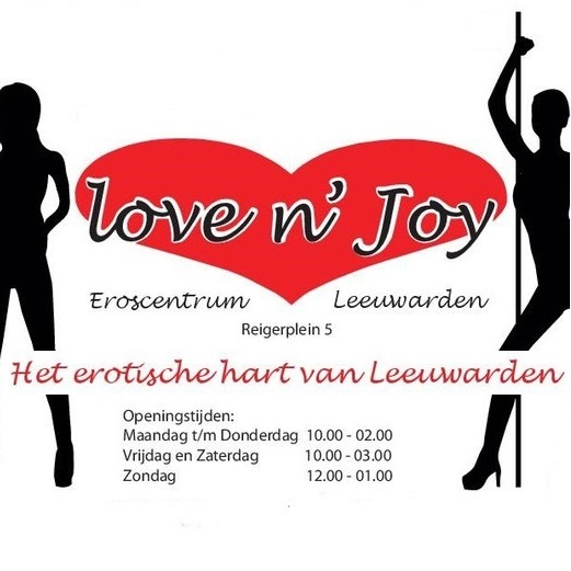 Redlight District Lovenjoy in het centrum van Leeuwarden.
